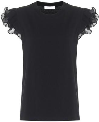 See by Chloe Ruffled cotton T-shirt
