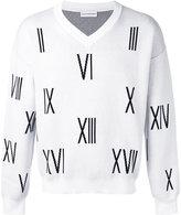 Gosha Rubchinskiy V-neck numbers sweater - men - Cotton - S