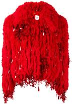 Ashish short fur jacket - women - Silk/Acrylic/Polyester - S