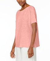 Eileen Fisher Organic Linen-Cotton Boxy Sweater