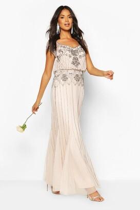 boohoo Bridesmaid Hand Embellished Maxi Dress