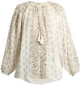 Mes Demoiselles Jarod geometric-print cotton shirt