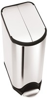 Simplehuman 30 Liter Butterfly Step Trash Can in Fingerprint-Proof Brushed Stainless Steel