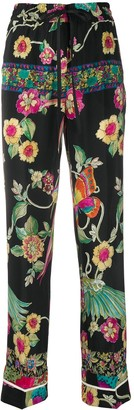 RED Valentino Floral Straight-Leg Trousers
