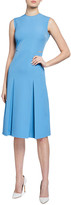 Victoria Victoria Beckham Slit Detail Sleeveless Midi Dress