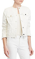 Lauren Ralph Lauren Petite Collarless Denim Jacket