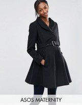 Asos Skater Coat With Funnel Neck