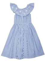 Margherita Toddler Girl's Embroidered Daisy & Stripe Dress