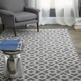 west elm Metallic Diamond Kilim - Slate