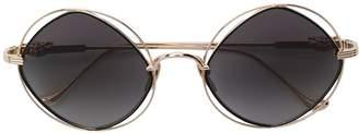 Chrome Hearts round frame sunglasses
