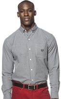 Chaps Big & Tall Classic-Fit Patterned Button-Down Shirt