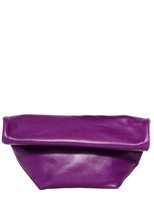 Jil Sander Small Pilade Nappa Leather Rolled Clutch
