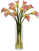 CALLA Nearly Natural Mini Silk Lily Flower Arrangement in Pink