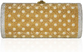 Judith Leiber Cylinder Beaded East-West Clutch Bag, Champagne
