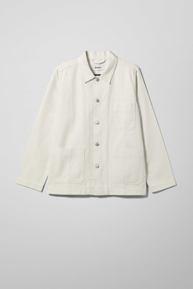 Weekday Generic Recycled Denim Jacket - White