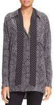 Equipment Women's Kate Moss For 'Daddy' Oversize Silk Shirt With Tie