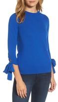 Halogen Women's Tie Sleeve Crewneck Sweater