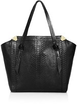 Foley + Corinna Portrait Python-Embossed Shopper Tote