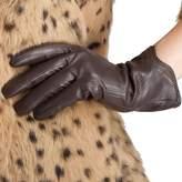 Nappaglo Nappa Leather Gloves Warm Lining Winter Handmade Curve Imported Leather Lambskin Gloves for Women (M, )