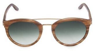 Barton Perreira Dalziel 52MM Double-Bridge Round Sunglasses
