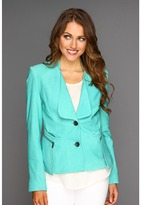 Marc New York Nora Leather Jacket (Teal) - Apparel