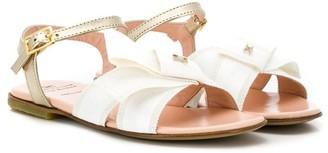 Elisabetta Franchi La Mia Bambina TEEN logo bow sandals