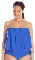 Athena Women's Plus-Size Finesse Solid Banded Bandini