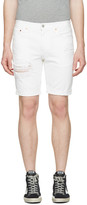 Levi's White Denim 511 Shorts