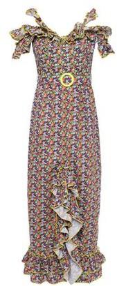 Gül Hürgel Cold-shoulder Ruffled Floral-print Cotton Midi Dress