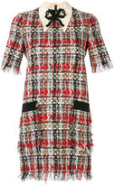 Gucci embroidered tweed dress