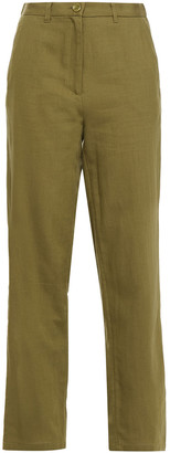 American Vintage Cotton And Wool-blend Twill Straight-leg Pants