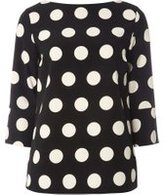 Dorothy Perkins Womens **Tall Monochrome Spotted T-Shirt- Black