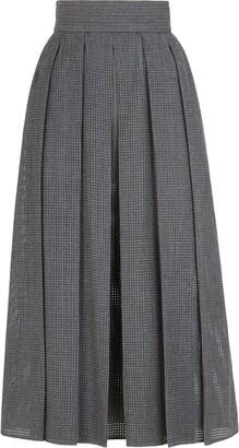 Fendi Perforated Midi Skirt
