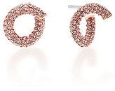 Michael Kors Color Rush Pave Twist Stud Earrings