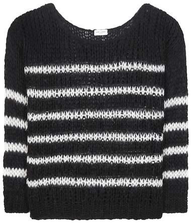 Saint Laurent Striped virgin wool and mohair-blend sweater