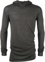 Rick Owens fitted hoodie - men - Wool - S