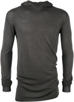 Rick Owens fitted hoodie - men - Wool - XS