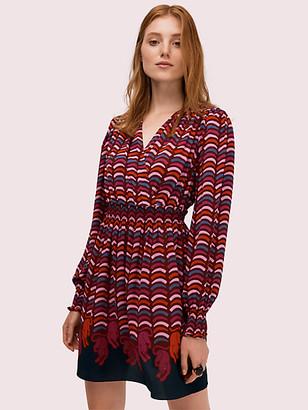 Kate Spade Rawr Smocked Dress - XS
