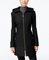 MICHAEL Michael Kors Hooded Wool-Blend Coat, Only at Macy's