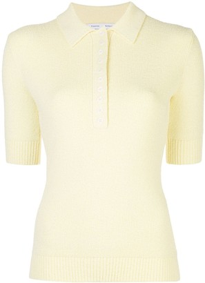 Proenza Schouler White Label Knitted Polo Top