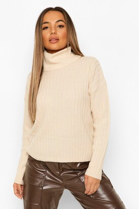 boohoo Petite Roll Neck Knitted Jumper