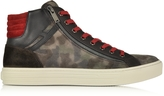 Hogan Multicolor Leather and Suede High Top Sneaker