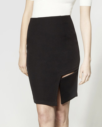 ARIS - Women's Black Pencil skirts - Square Cut-Out Skirt - Size One Size, S at The Iconic