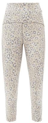 adidas by Stella McCartney Truepurpose Leopard-print Jersey Cropped Leggings - Animal