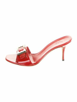 Gucci Patent Leather Slides Red