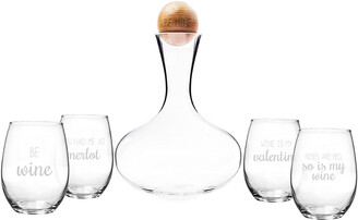 Cathy's Concepts Be Mine Wine Decanter & Glass Set