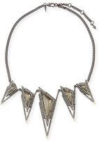Alexis Bittar Crystal Spike Bib Necklace
