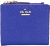Kate Spade logo plaque wallet - women - Calf Leather/Polyester/Polyurethane - One Size