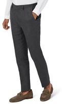 Topman Men's Skinny Fit Linen Suit Trousers