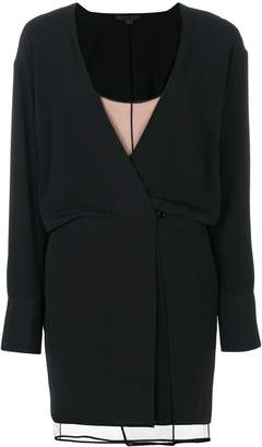 Alexander Wang Layered Mini Wrap Dress